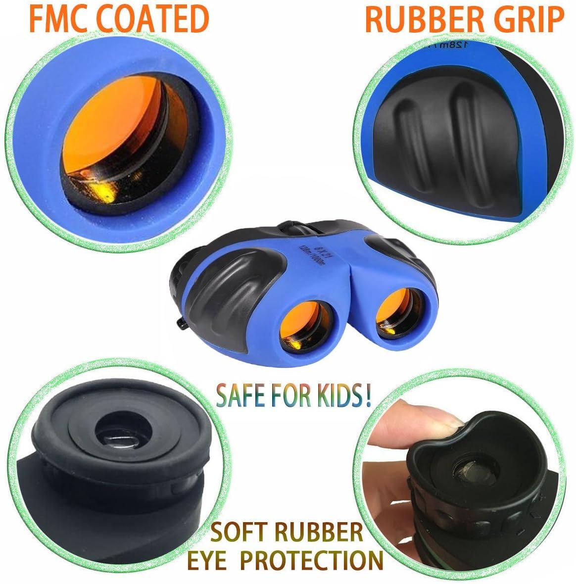regalo y juguete a prueba de golpes y compacto SOKY Binocular impermeable para ni/ños