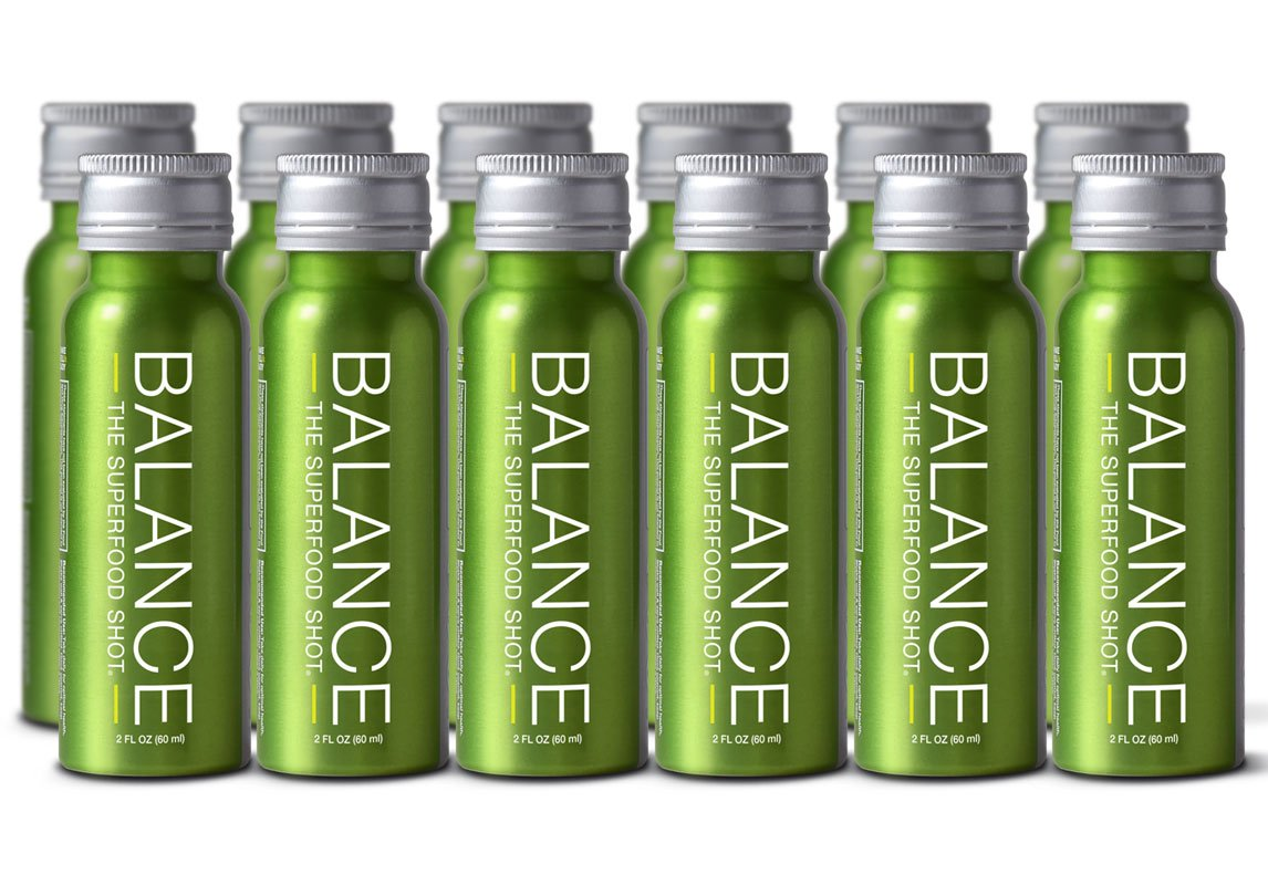 Superfood Shot, Organic Blend of Fruits, Vegetables and Greens, Smoothie, Green Drink to Take on the Go, Juice Cleanse, 2oz. Serving, Vegan, Gluten-Free (12 pack)