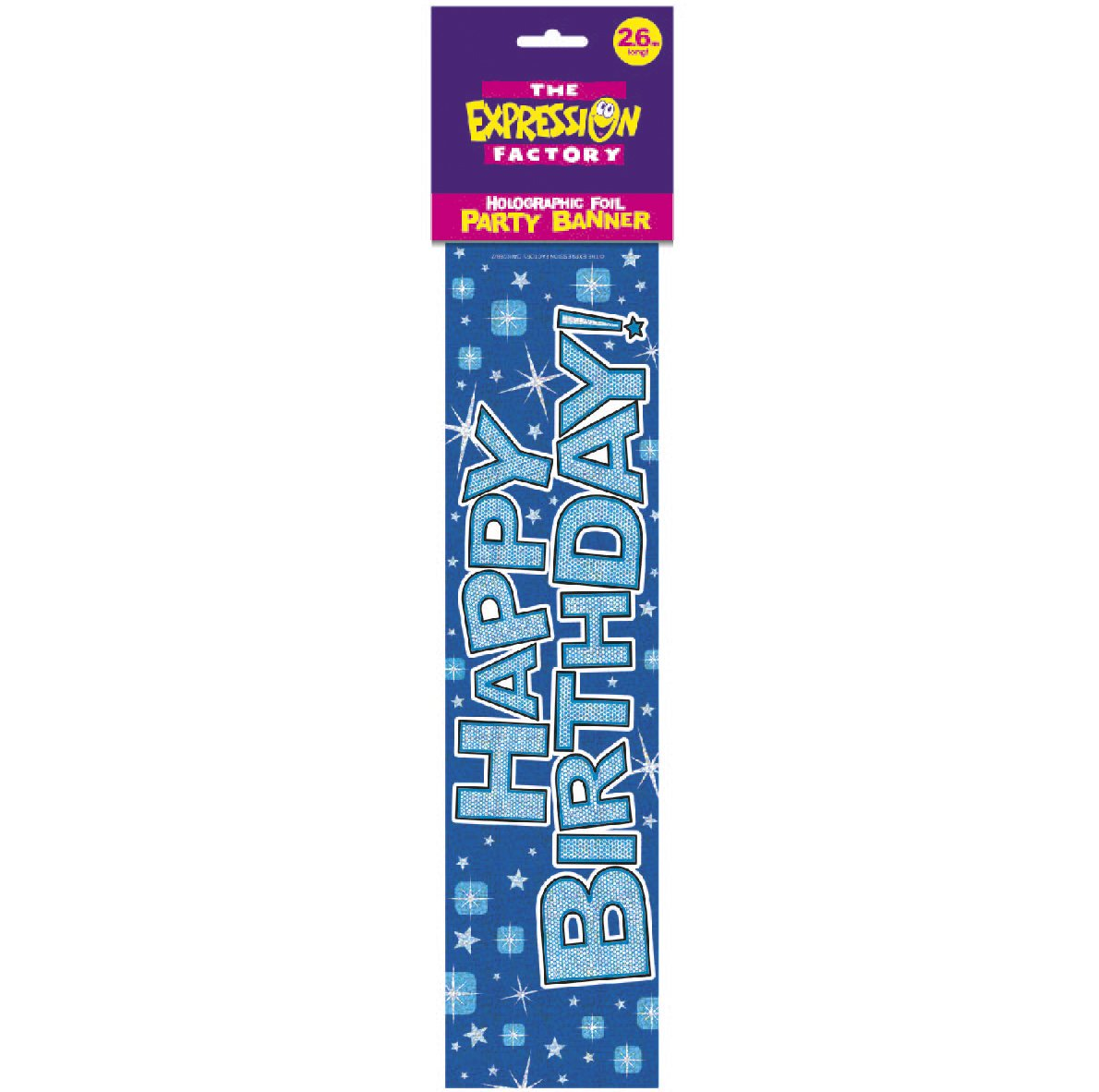 Happy Birthday Blue Twinkle - Holographic Banner iparty Limited UTSG9239_1