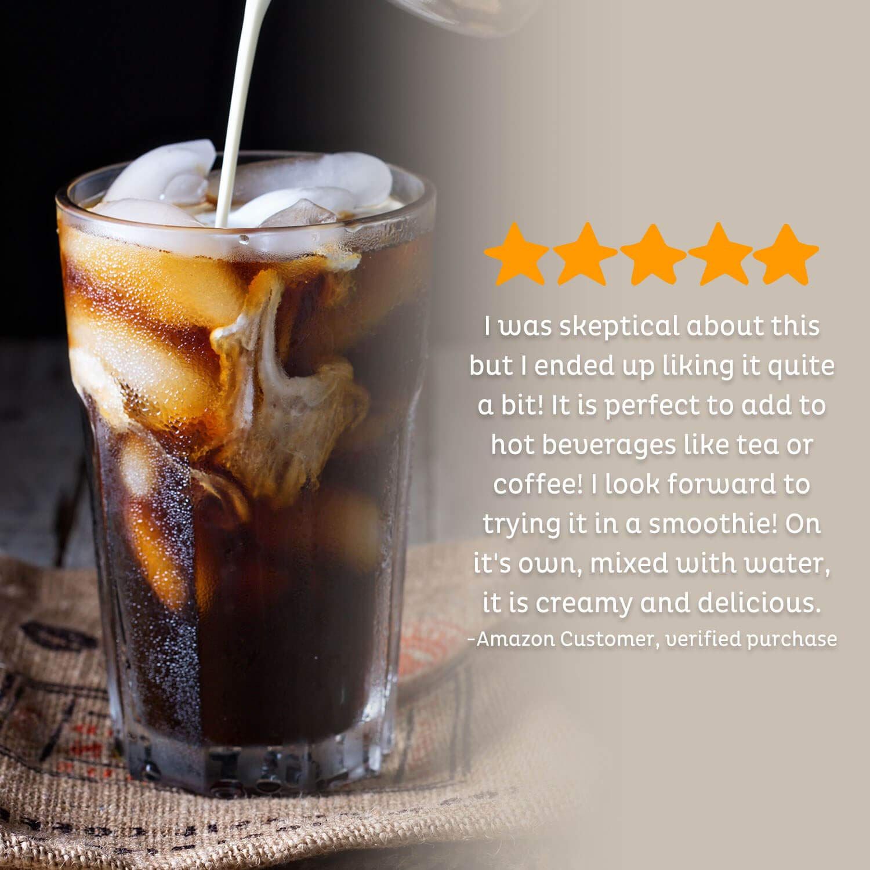 Unsweetened, Dairy Free Coffee Creamer - Vegan, Non GMO, Gluten Free, Soy Free, Lactose Free - Keto & Paleo Friendly