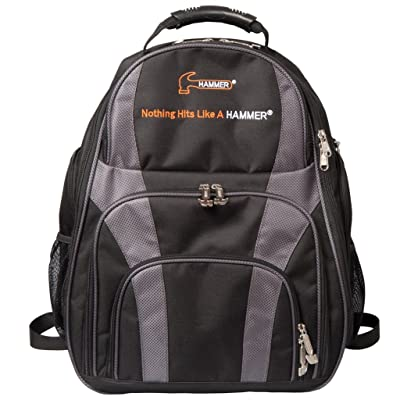 Hammer Deuce 2-Ball Backpack Bowling Bag, Black/Carbon: Sports & Outdoors