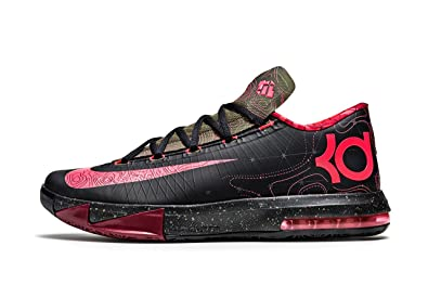 brand new 67fd3 8d671 Nike KD VI (GS) Meteorology + KD Elite Socks (Black Atomic Red