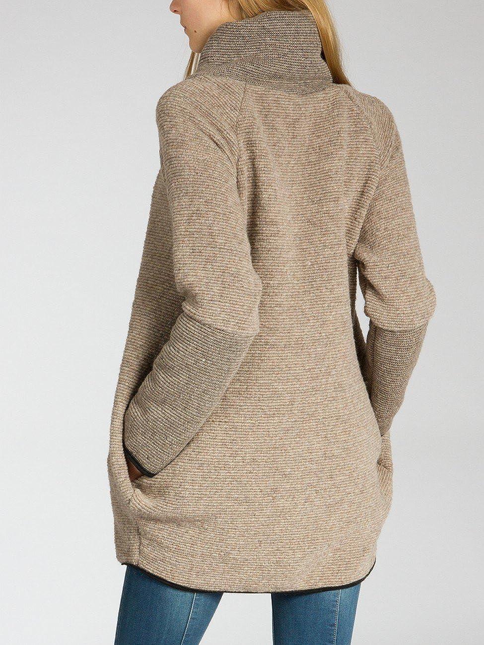 CASPAR STJ020 Veste cape en laine pour femme