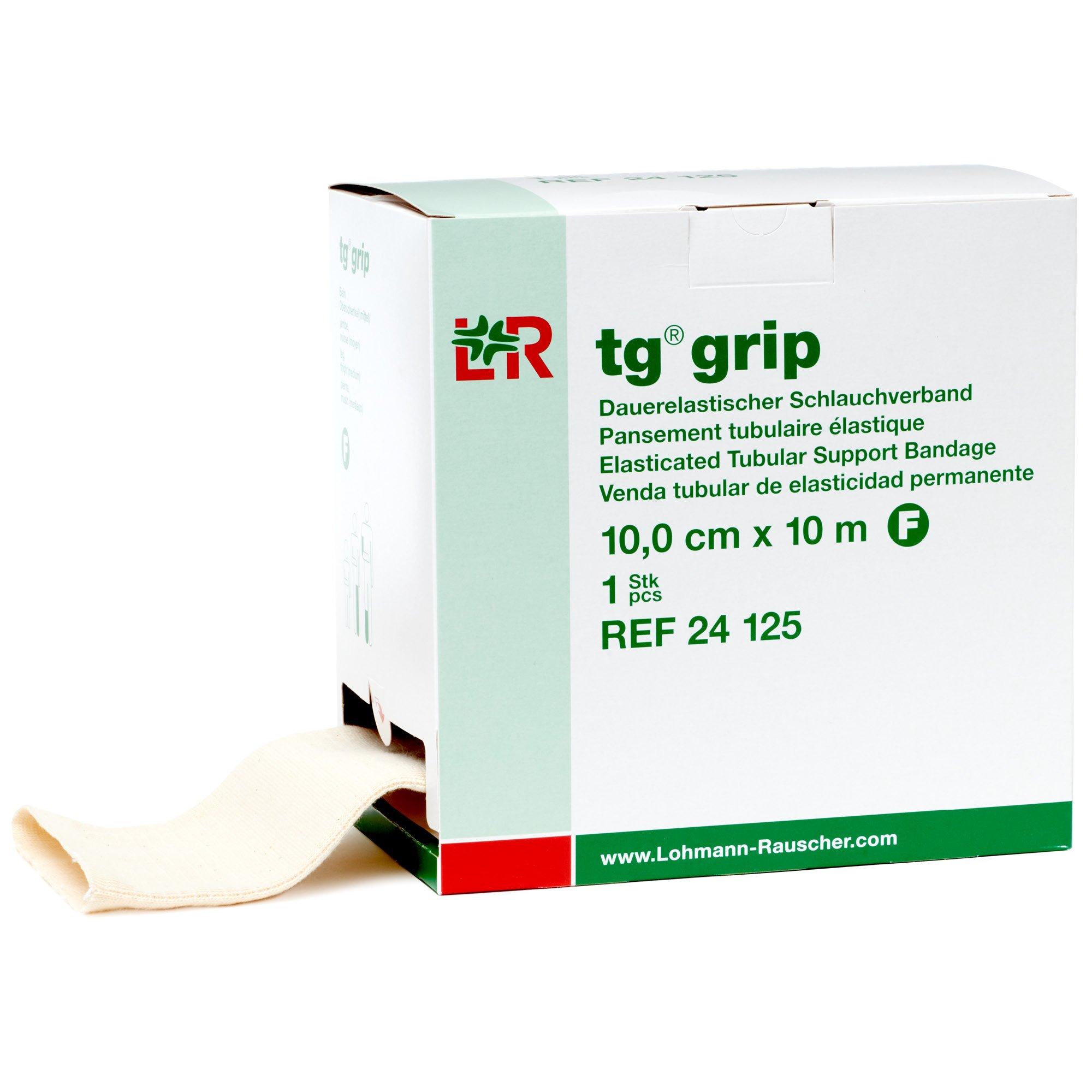tg Grip Elastic Tubular Compression Bandage, Seamless Tube Stockinette Wrap for Retention, Lymphedema, Swelling, 85% Cotton, Washable & Reusable, Size F