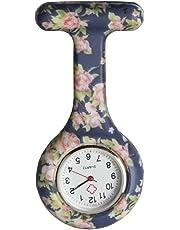 Vogue Silicone Medical Nurse Watch Clip on Lapel Watch Pocket Watch