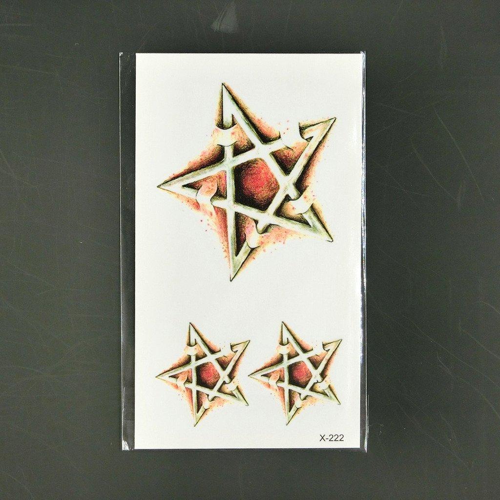 Oottati Tatuajes Temporales 3D Brazo Pentagrama (Juego De 2 ...