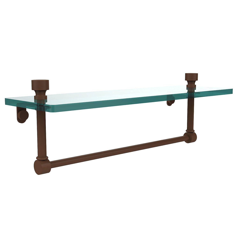 Allied Brass FT-1/16TB-ABZ 16-Inch Single Glass Shelf with Towel Bar by Allied Brass B001O8AJSK ブロンズ(antique bronze) ブロンズ(antique bronze)