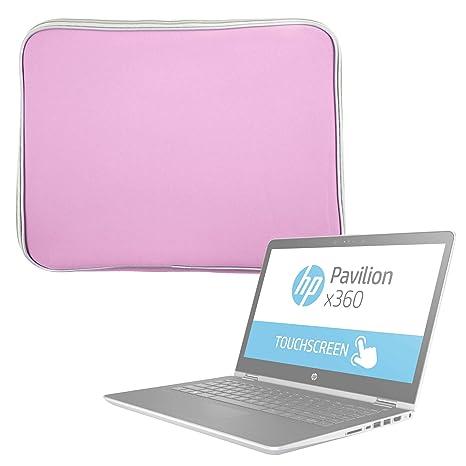 DURAGADGET Funda De Neopreno Rosa para Portátil HP Pavilion x360 14-ba001ns - Resistente Al