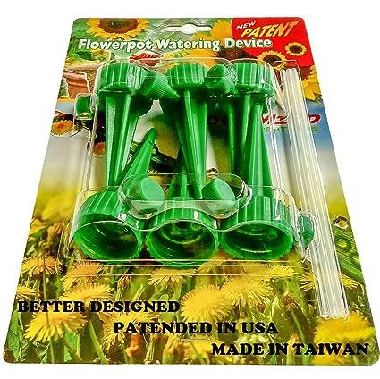 Automatic Easy Adjustable Self Watering Spikes. Indoor Outdoor Plastic  Bottle Garden Plants Drip Irrigation Spike