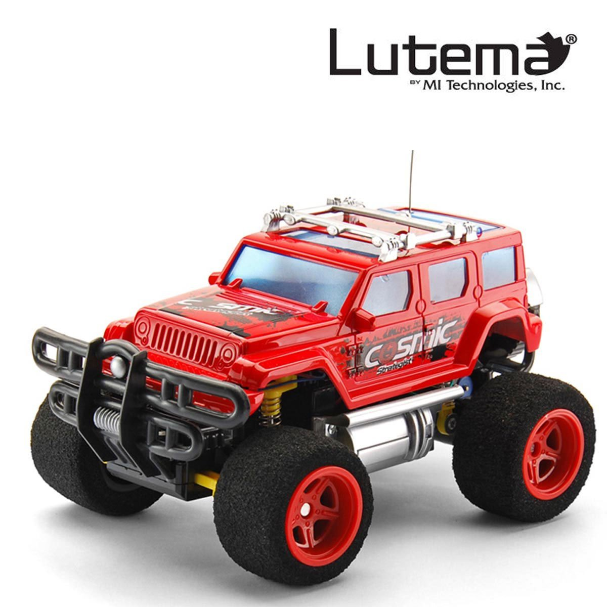 Lutema Cosmic Rocket 4CH Remote Control Truck, Red