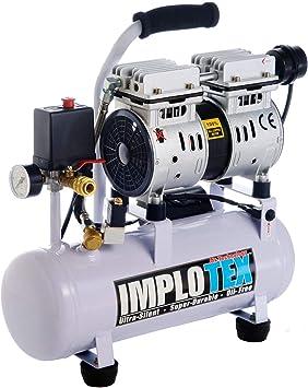 IMPLOTEX - compresor de aire, silencioso, solo 48 dB, sin aceite: Amazon.es: Bricolaje y herramientas