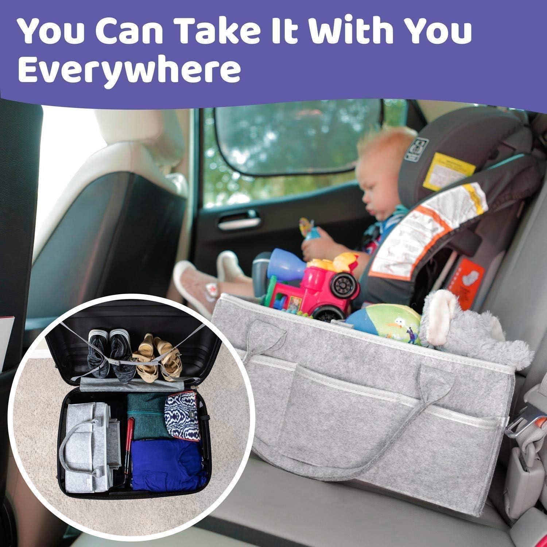 Sac de douche pour cadeau de douche Renquen Organiseur de couches portable pour table /à langer et voiture Sac de rangement pour b/éb/é panier de rangement pour b/éb/é