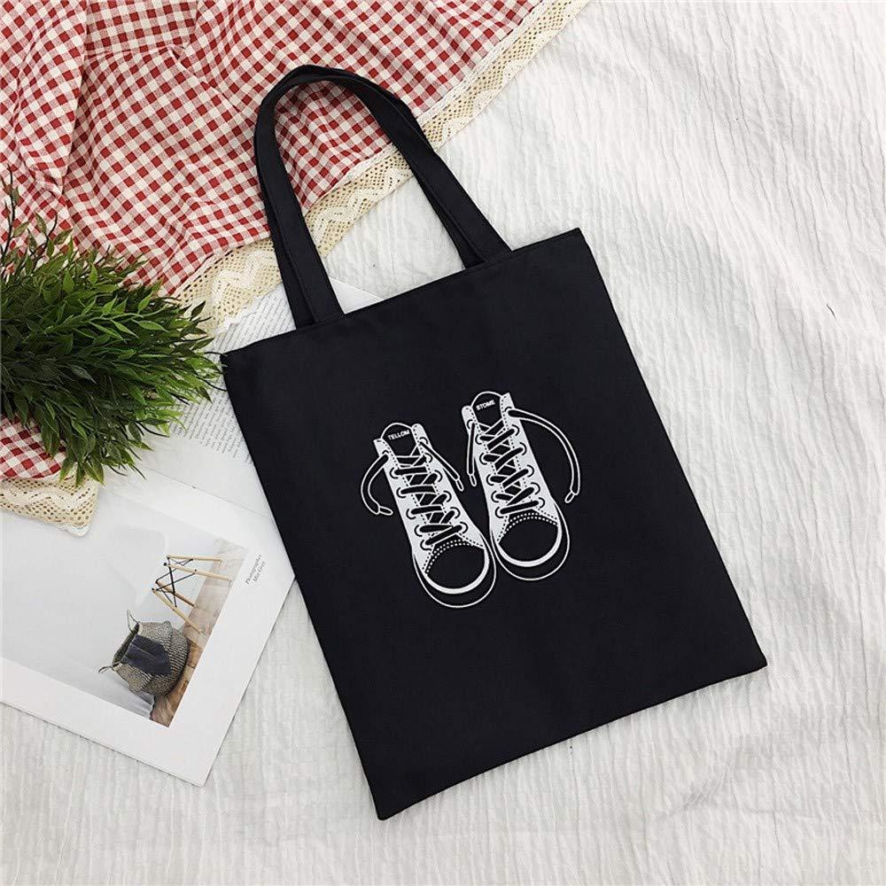 NRUTUP Women Canvas Handbag Printed Shoulder bag Capacity Beach Tote Shopping Handbags 33X1X38cm,M