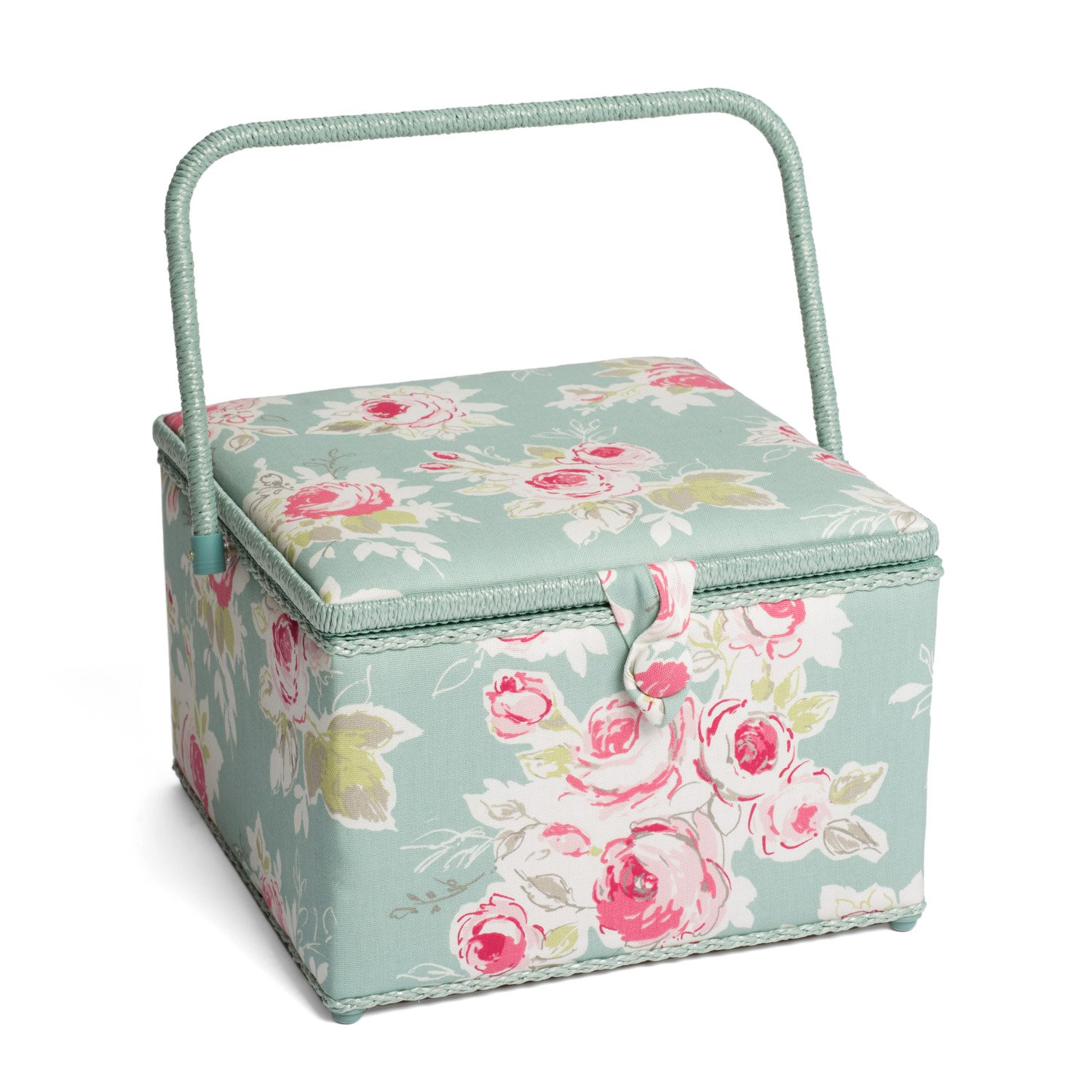 Hobby Gift HGX/242 | Rose Garden Print Large Sewing Basket | 30�x30�x22cm Groves