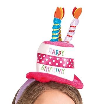 Boland 00940 - Diadema Mini sombrero de feliz cumpleaños, tamaño de la unidad, multicolor