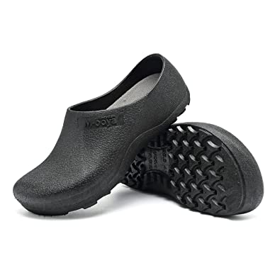 EASTSURE Slip Resistant Shoes For Women Men Black Non Slip Kitchen Work  Shoes For Nurse Chef