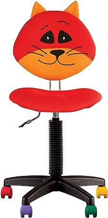 Joy Chaise DE Bureau Enfant Ergonomique, Hauteur du Dossier RÉGLABLE, Profondeur D'ASSISE RÉGLABLE, roulettes Multicolores. (Rouge)