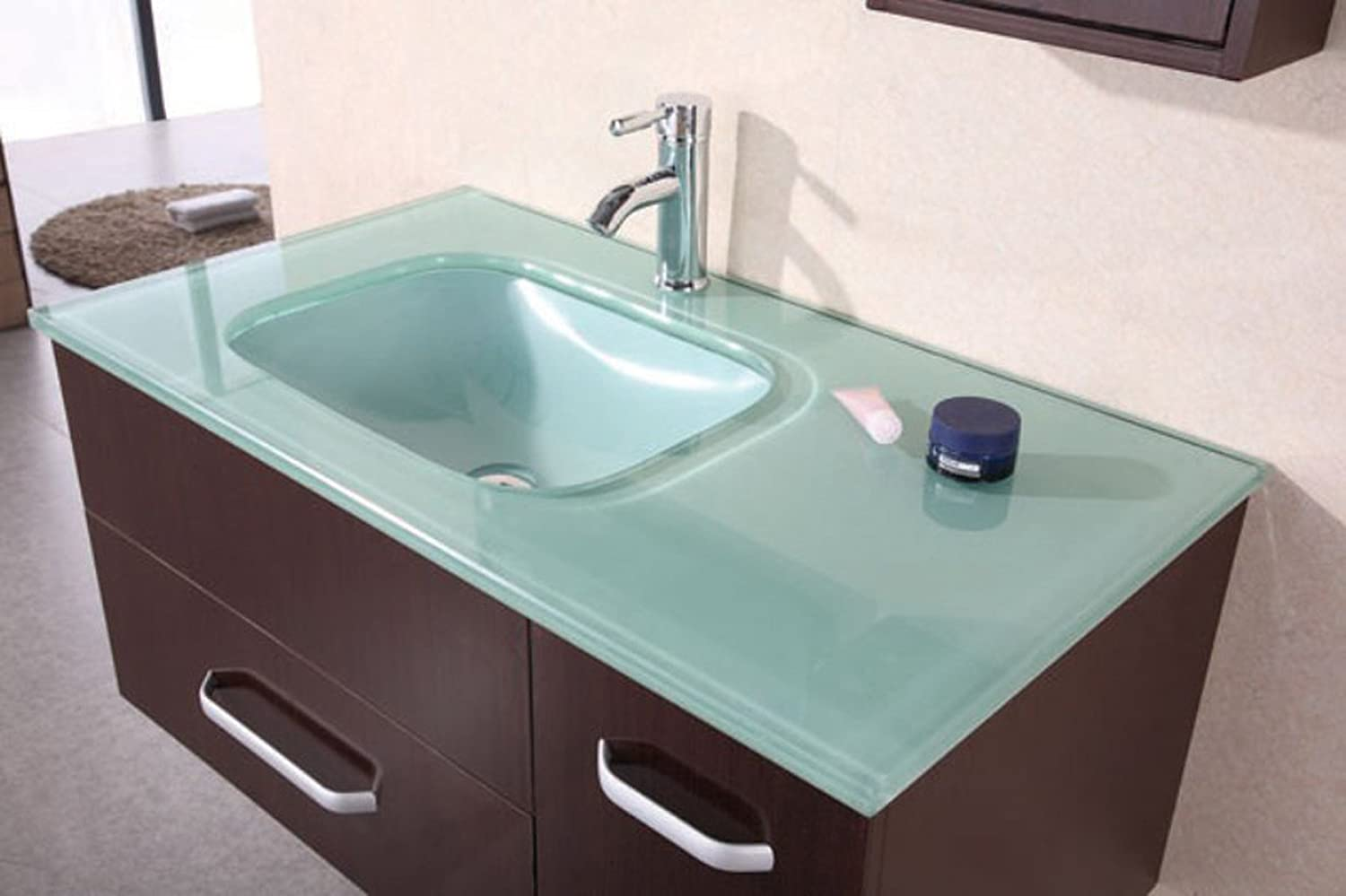 Design Element Christine Wall-Mount Single Sink Vanity Set, 35-Inch ...