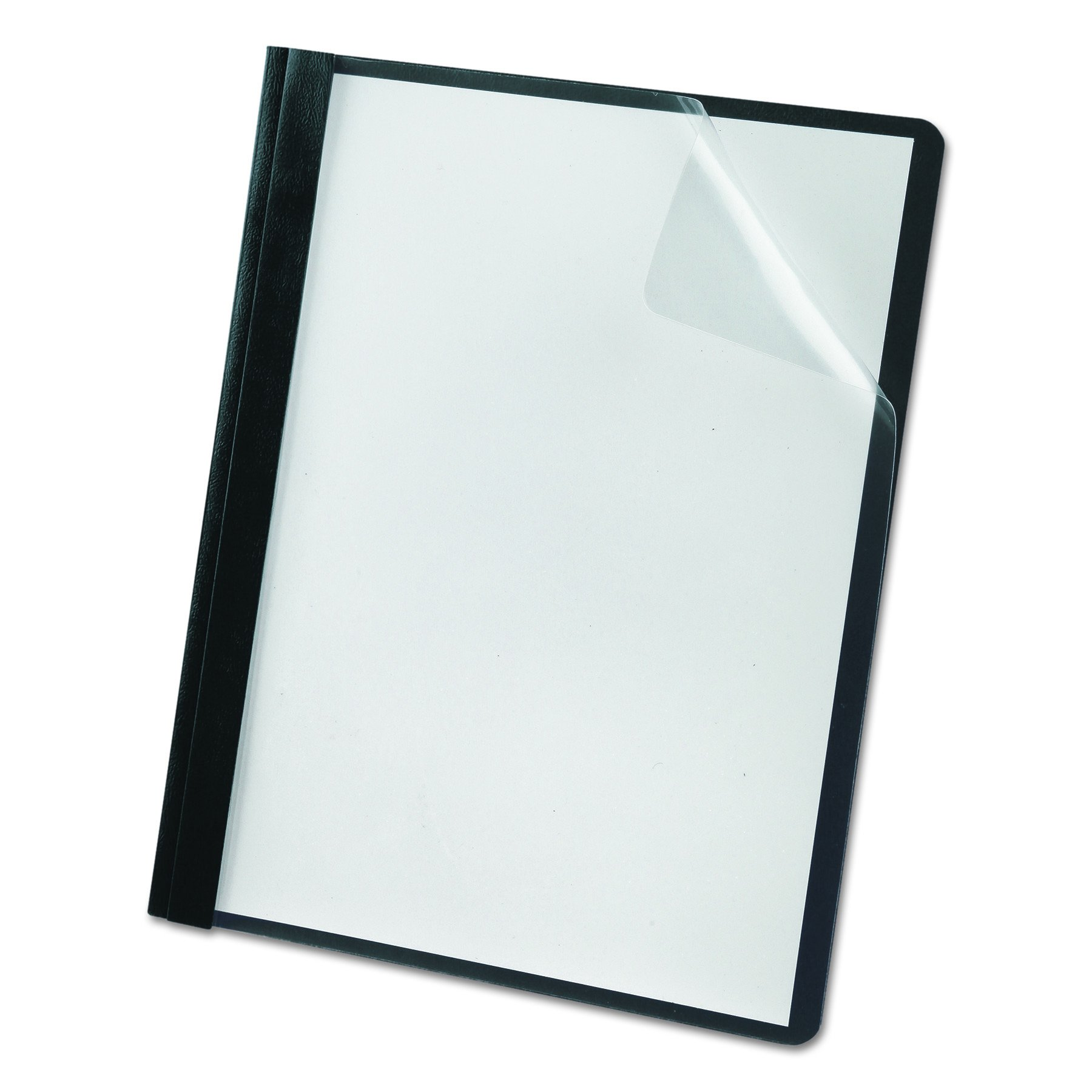 Oxford Premium Clear Front Report Covers, Letter Size, Black, 25 per Pack (58806EE)