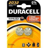 Duracell DL2032 Battery Lithium for Camera Calculator or Pager 3V Ref 75072668 [Pack 2] (75072668)