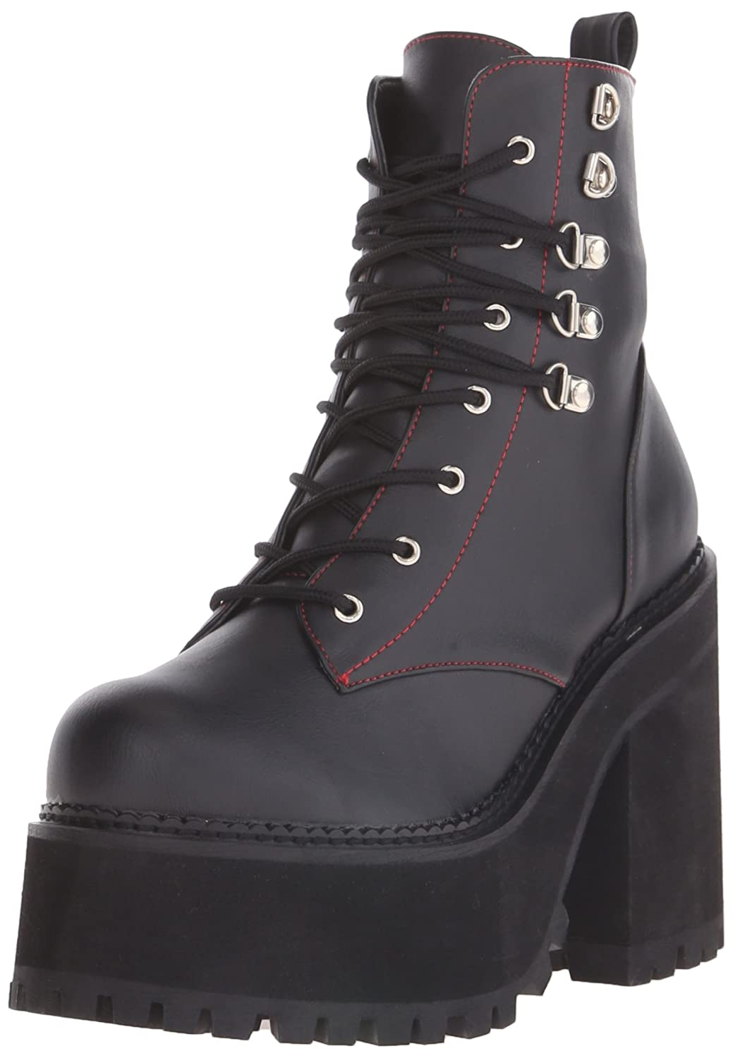 Demonia Women's ASST100/BVL Boot B014J068HA 9 B(M) US|Black Vegan Leather