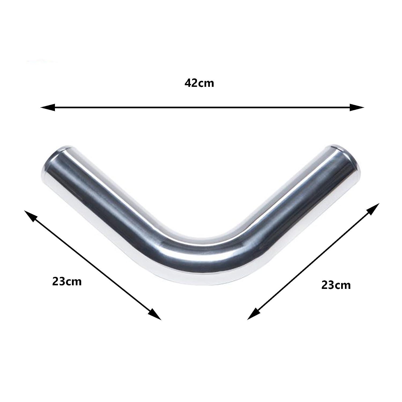 Di/ámetro 75mm MODAUTO Tubo de Aluminio para Filtro de Aire Forma Recto Modelo E317C Codo de Alumnio Tubo de Intercooler Radiador