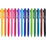 ParKoo Retractable Gel Pens 0.7mm Quick Dry Ink, 14 Assorted Candy Colors Fine Point Smooth Writing Pens