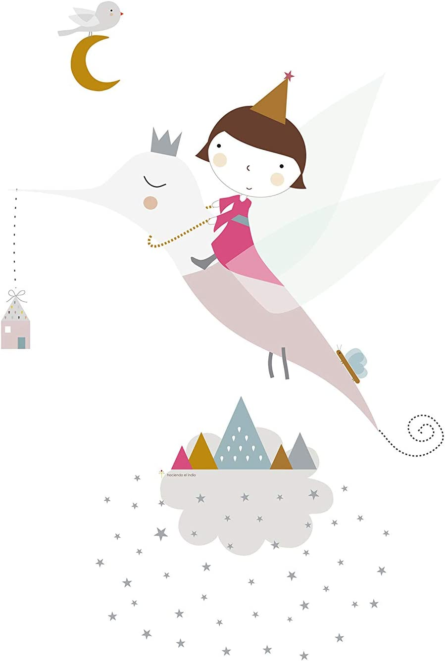 HACIENDO EL INDIO Funda n/órdica reversible cuna Wonderland Pink