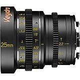 Veydra V1-25T22SONYEI Mini Prime 25mm T2.2 Sony E Imperial Cinema Lens with Manual Focus, Black