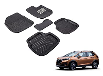 Auto Hub Premium 3d Car Foot Mat For Honda Wrv Black Amazonin