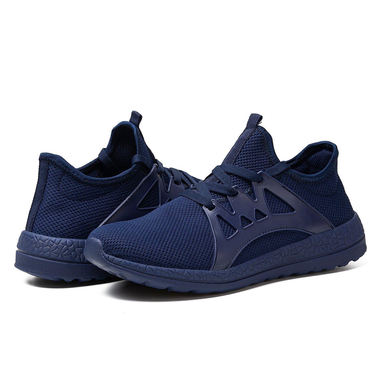 RomenSi Mens Mesh Lightweight Running Shoes Casual Breathable Athletic Tennis Walking Sneaker Blue US10.5