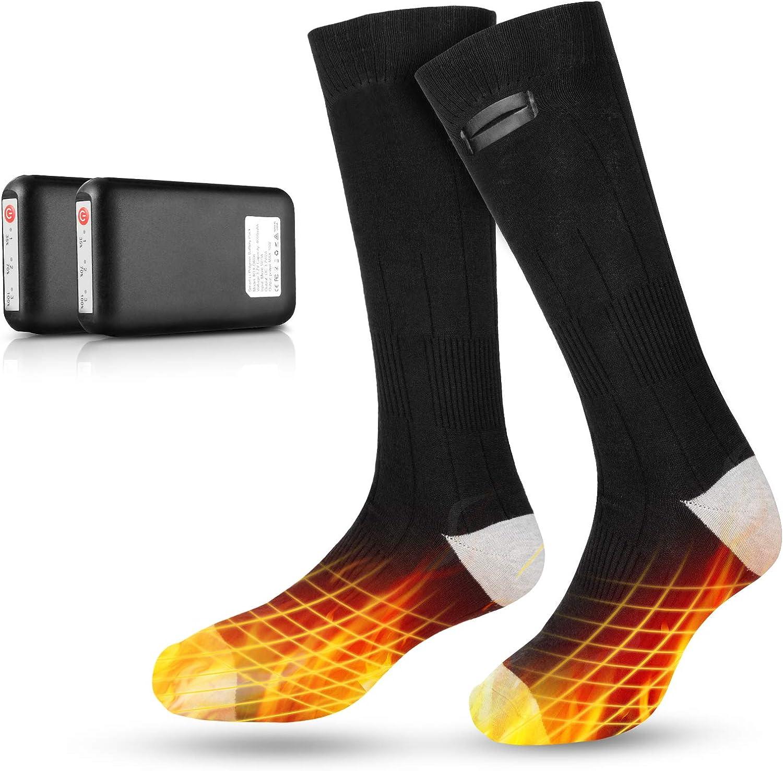 30seven Calcetines calefactables Calcetines de Deporte calefactables Mujer /& Hombre Calcetines de Bicicleta Calcetines de esqu/í calefactables