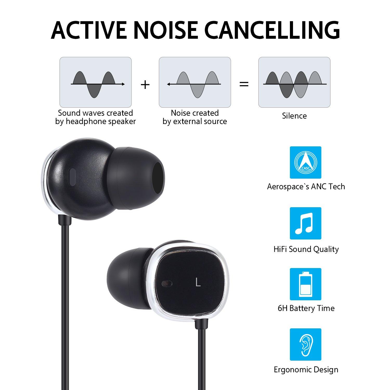 Auriculares Bluetooth con Cancelación de Ruido Activa: Amazon.es: Electrónica