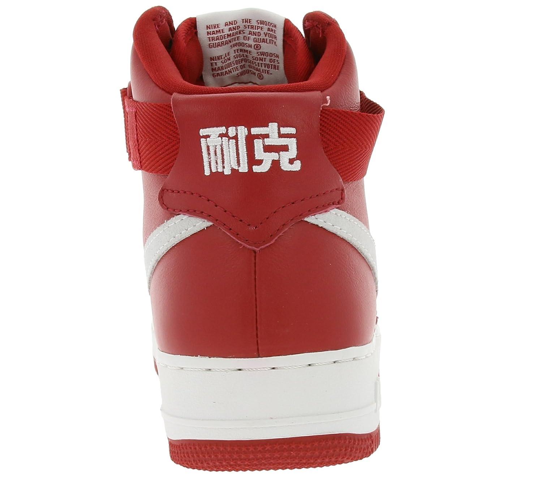new products 3329b d6c04 Amazon.com   Nike Mens Air Force 1 HI Retro QS NAI Ke Gym Red Summit White  Leather Size 7 (743546-600)   Basketball