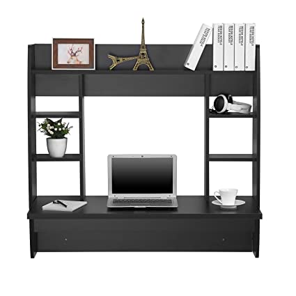 Charmant VEVOR Wall Mounted Floating Desk With Storage Shelf Wall Mount Laptop  Computer Desk PC Table Home