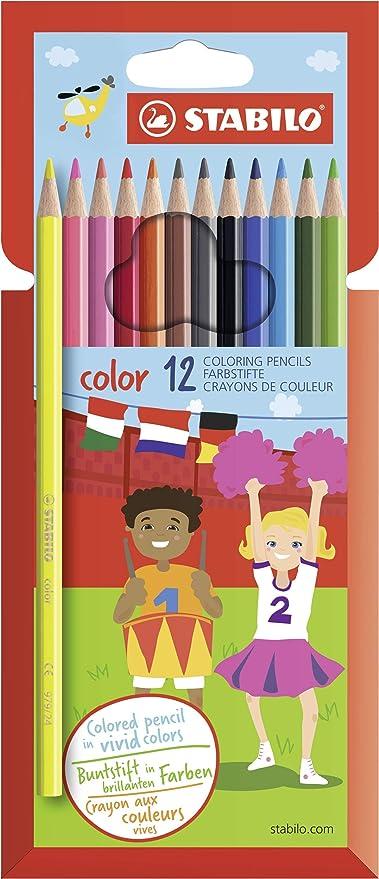Stock 5 Confezioni di Matite Colorate Set da 6 Pezzi in Legno Colori Scuola