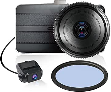 KDLINKS DX2 Full-HD 1080P Front + 720P Rear 290° Super Wide Angle Car Dash Cam with G-Sensor & WDR Superior Night Mode, 1 Year Dashcam Warranty