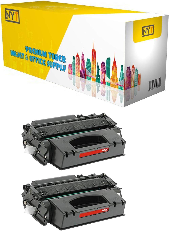 NYT Compatible MICR Toner Cartridge Replacement for Q7553X for HP Laserjet P2014/P2015/P2015d/P2015dn/P2015n/P2015x M2727nf MFP Black,2-Pack