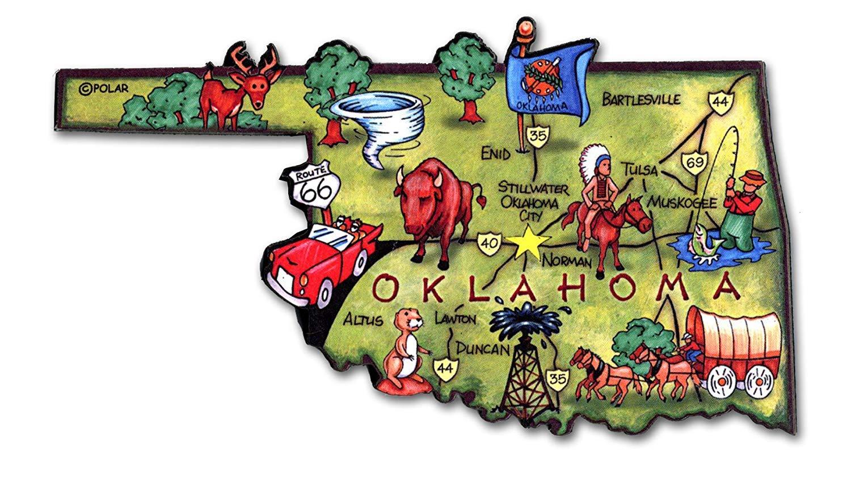 Oklahoma State Decowood Jumbo Wood Fridge Magnet 4.5