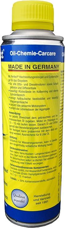 Mr Perfect Motorinnenreiniger 250 Ml Additiv Zur Öl Spülung Für Alle Benzin Und Dieselmotoren Schalt Und Differentialgetriebe Auto