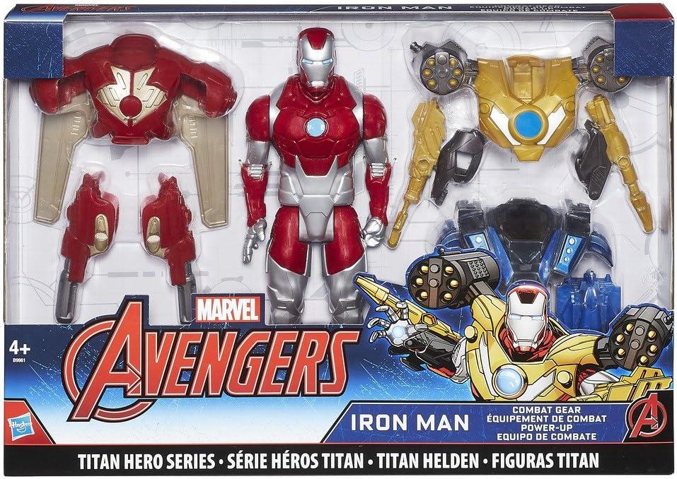 Avengers- Marvel Titan Hero Series Iron Man Combat Pack Figura ...