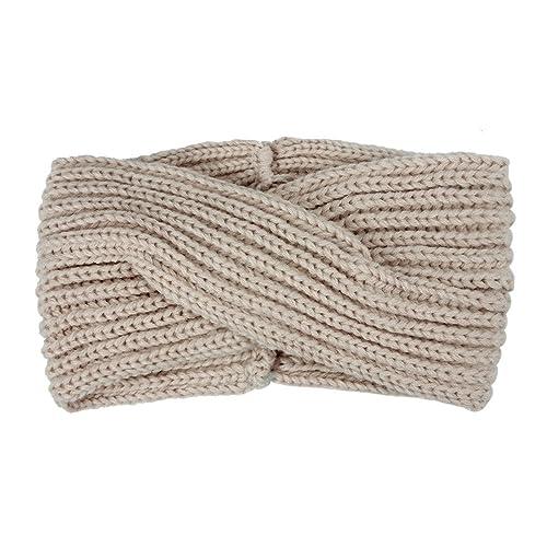 Kopfbekleidung Warme Kopfbekleidung Turban Crochet Woolen Webing Headbands