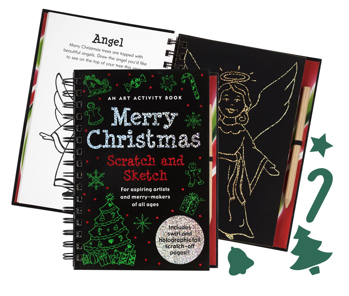 Merry Christmas Scratch and Sketch: An Art Activity Book for Aspiring  Artists and Merry-Makers of All Ages (Scratch & Sketch): Heather Zschock:  ...