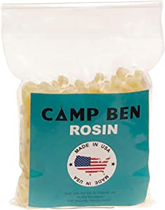 CAMP BEN 4oz Pine Rosin for Making Beeswax Food Wraps - Add Your Own Beeswax - Instructions for DIY Cloth Clings - Food Safe Tree Resin - All Natural - Replace Plastic Make Sandwich and Snack Wrappers