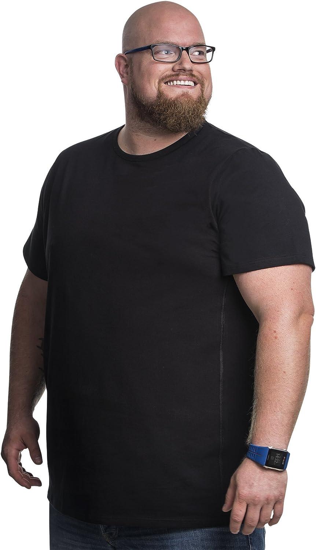 TALLA 4XL-B ( Cintura 138 a 145 cm ). Alca Fashion Camiseta clásica Cuello Redondo T-Shirt para Hombre, Tallas Extra Grande XXL-B - 8XL-B | Alca Classic Tshirt Crew Neck tee