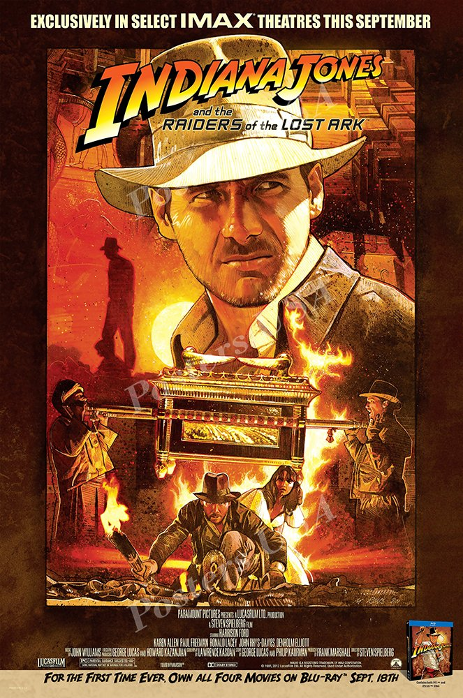 """Posters USA - Indiana Jones Raiders of the Lost Ark Movie Poster - MOV056 (24"""" x 36"""" (61cm x 91.5cm))"""