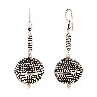1cc22fe11 Amazon.com: Efulgenz Boho Jewelry Indian Oxidized Silver Vintage Retro  Ethnic Dangle Tribal Tibetan Gypsy Dangle Earrings for Girls Women: Jewelry