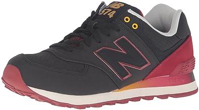 Mens ML574 Gradient Pack Fashion Sneaker, Black/Red, 12 D US New Balance