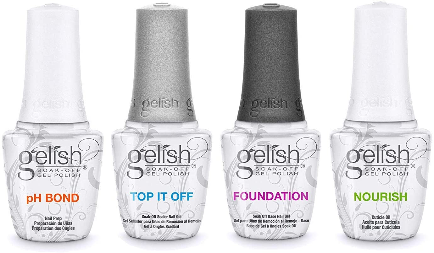 Harmony Gelish Fantastic Four - Pack esmalte de uñas de gel (4 x 15 ml): Amazon.es: Belleza