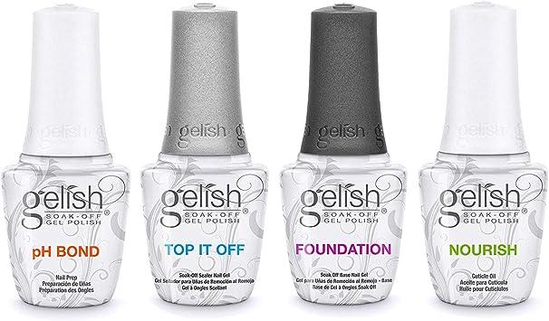 Harmony Gelish Fantastic Four - Pack esmalte de uñas de gel (4 x ...